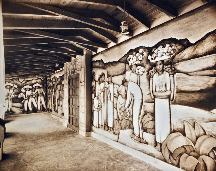 La Guelaguetza, 1933 Mural commissioned by Jo Swerling for his home in Beverly Hills.