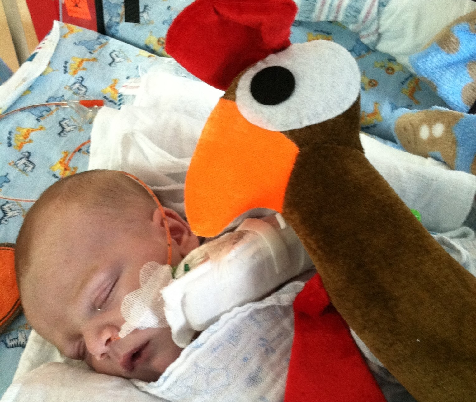 Tyler's first Thanksgiving in the hospital