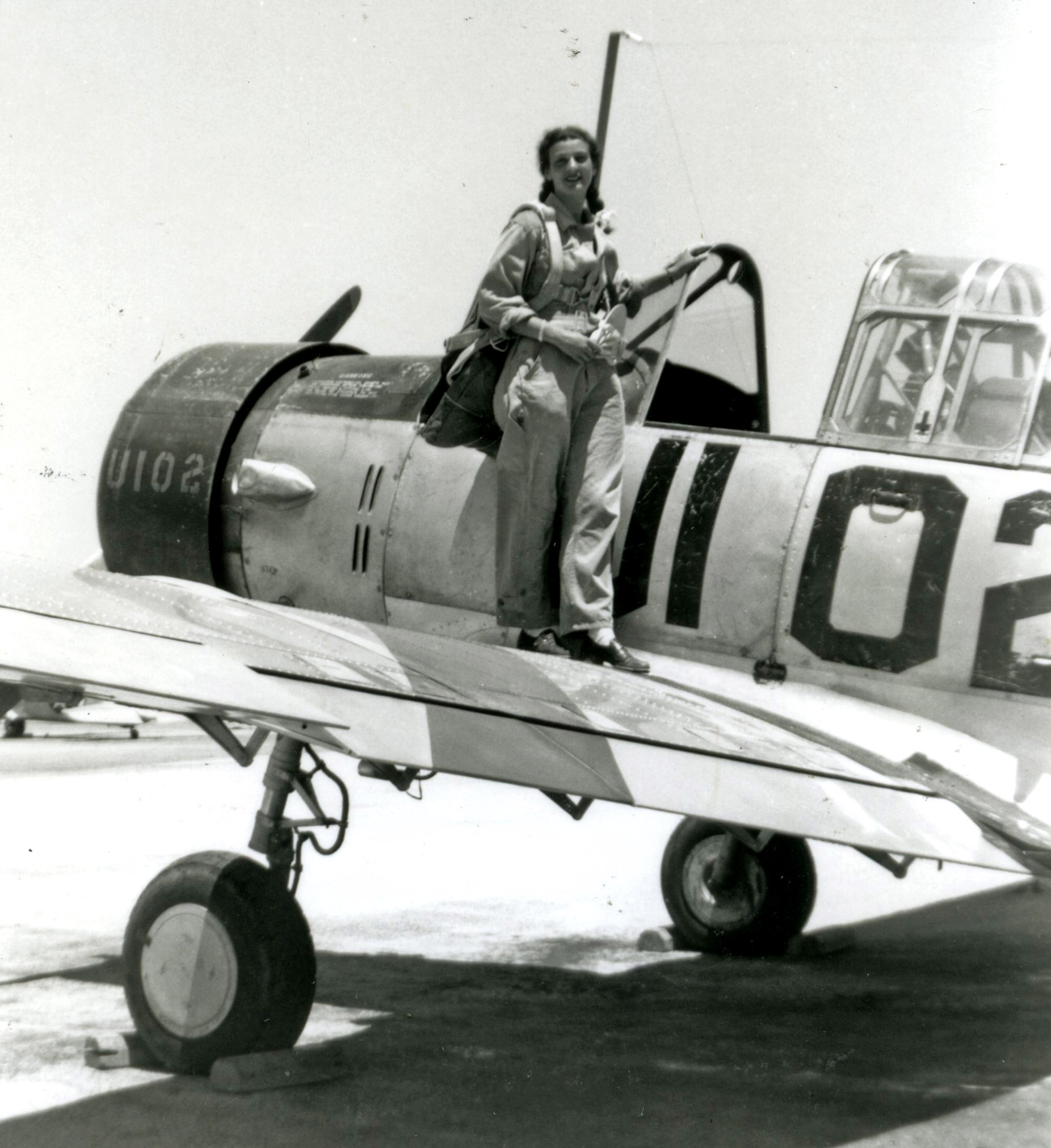"""Bernice """"Bee"""" Falk Haydu  in WWII."""