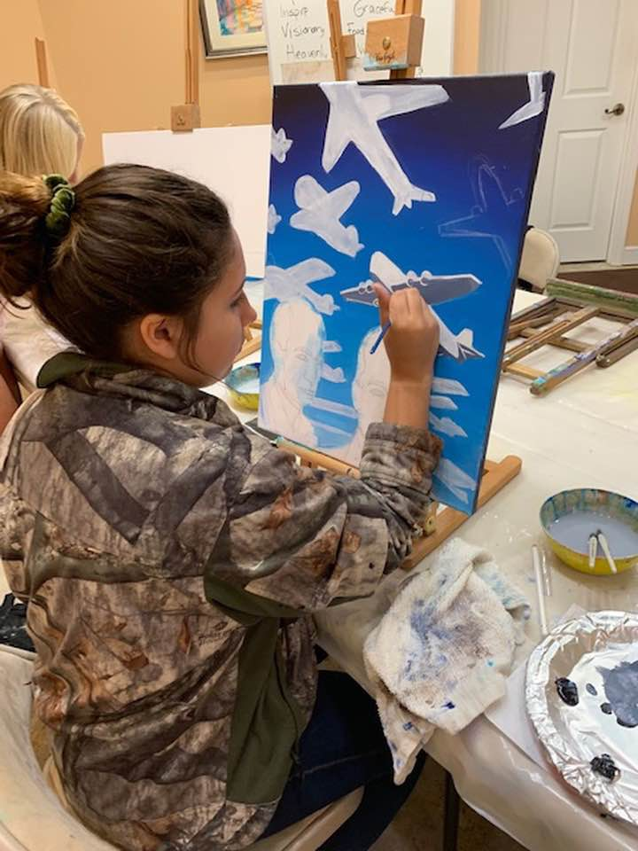 The talented artists at Visionary School of Arts are hard at work creating pieces for the Stuart Air Show Nov. 2-3. They will be featured in their own tent near the STEAM World exhibit! Be sure to visit & vote for your favorite artists.