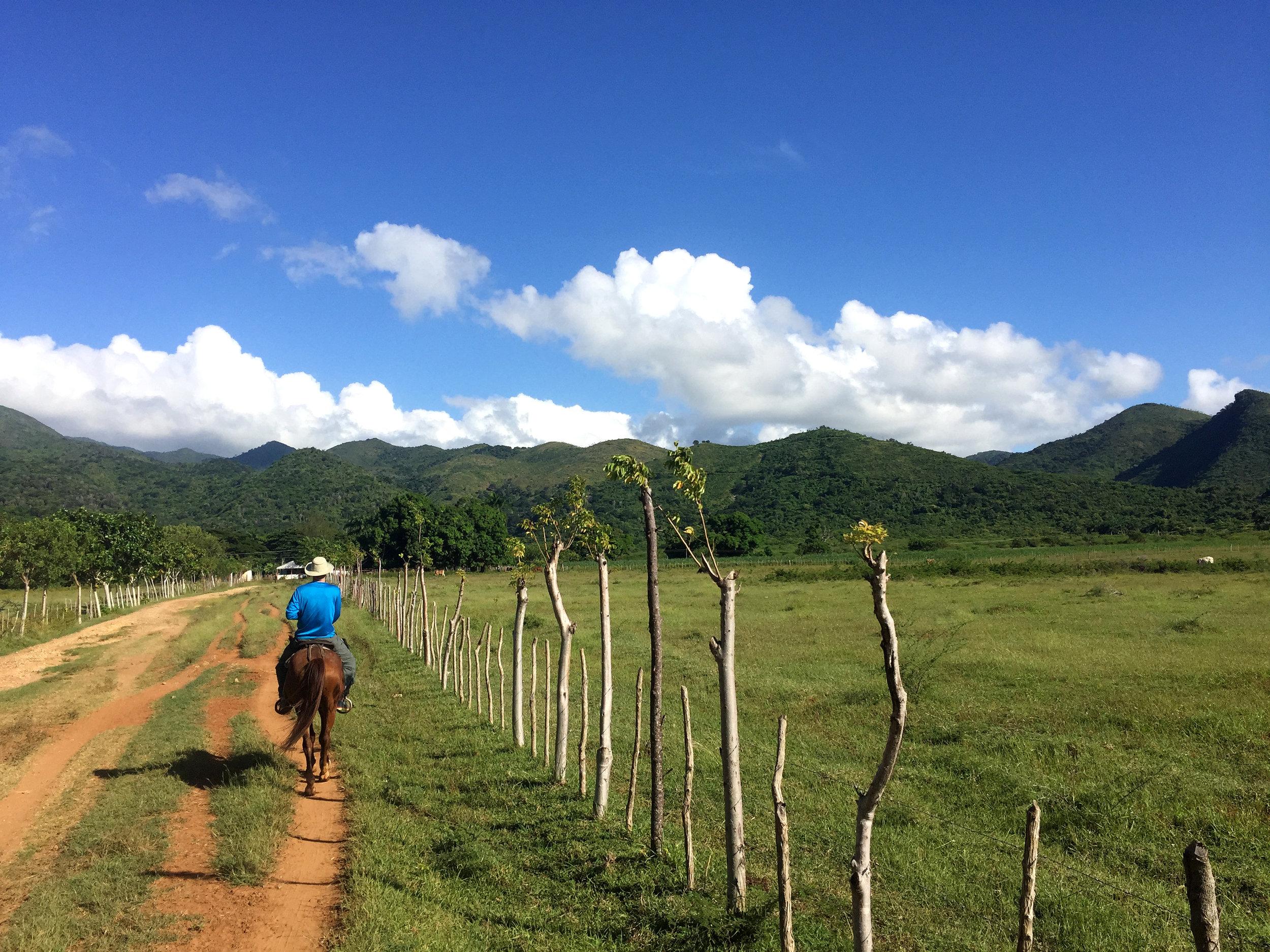 Horseback riding through Trinidad
