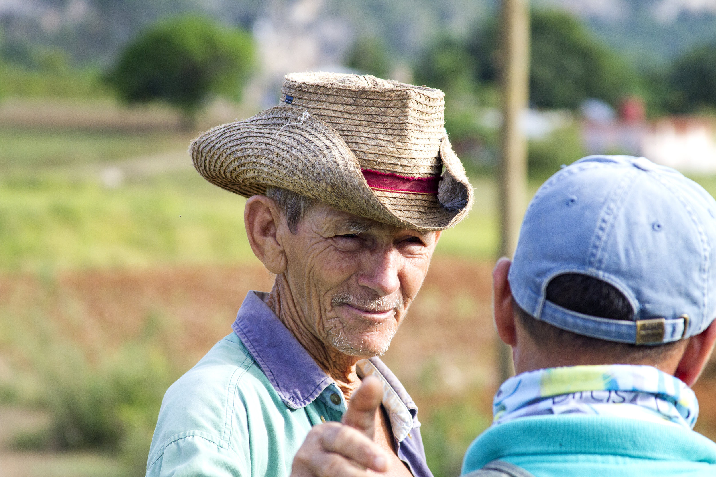 A farmer in Viñales greets our hiking guide