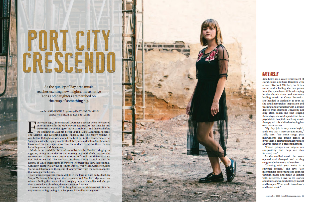 Mobile Bay Monthly Magazine feat. Kate Kelly