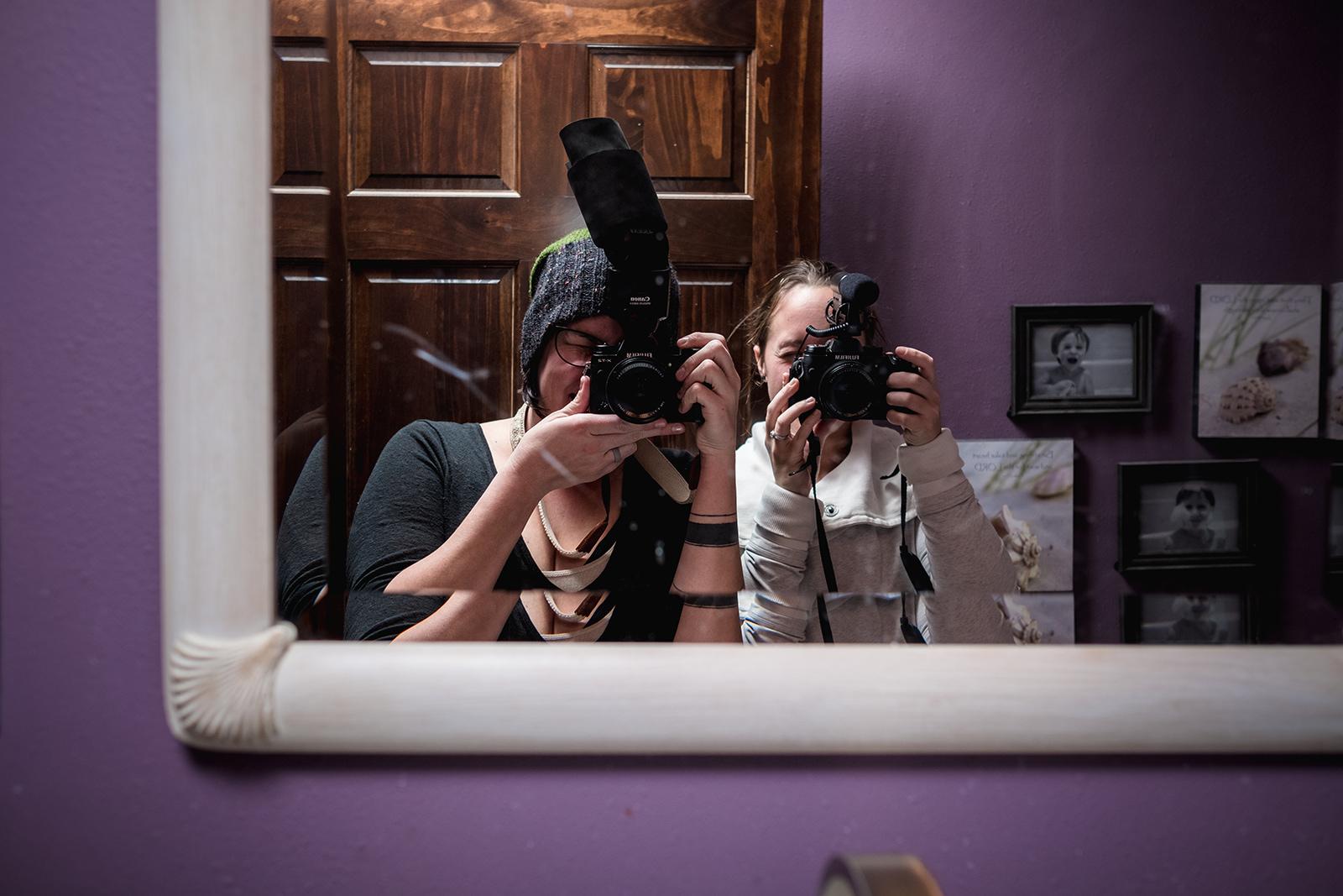 Obligatory birth photographer/videographer selfie!