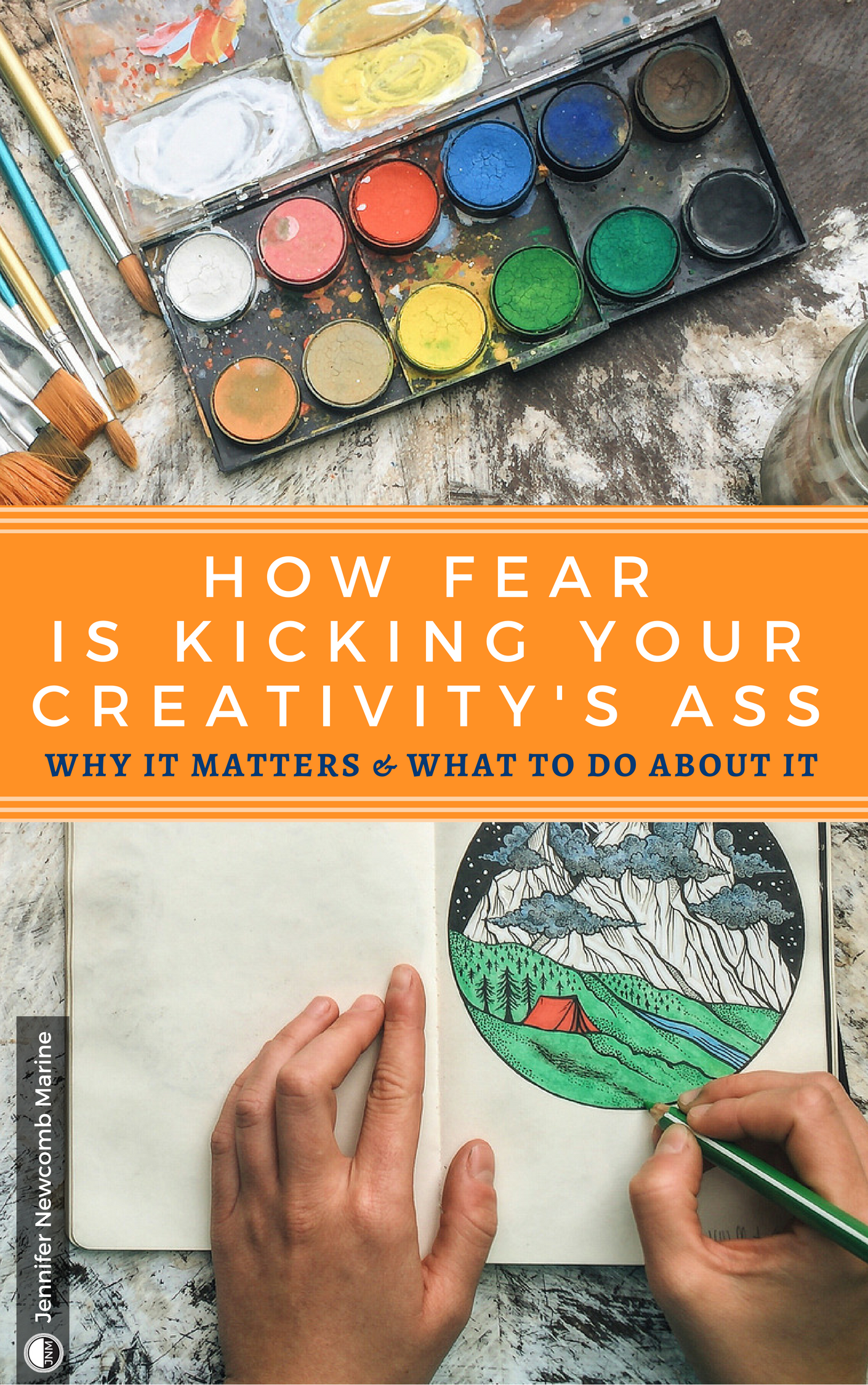 Kindle Cover - How Fear is Kicking Your Creativitys Ass (1).png
