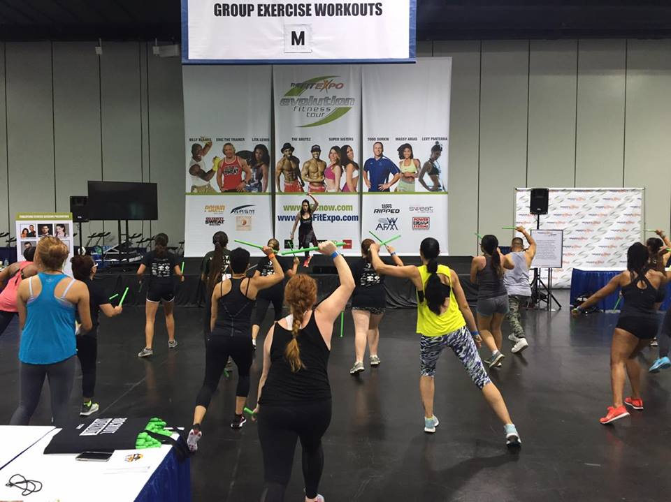 My friend from Orangetheory Fitness, Natalie teaching a drum stick fitness class.