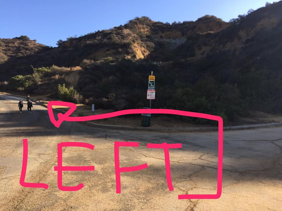 Break in the Road: GO LEFT to get behind the HOLLYWOOD SIGN!