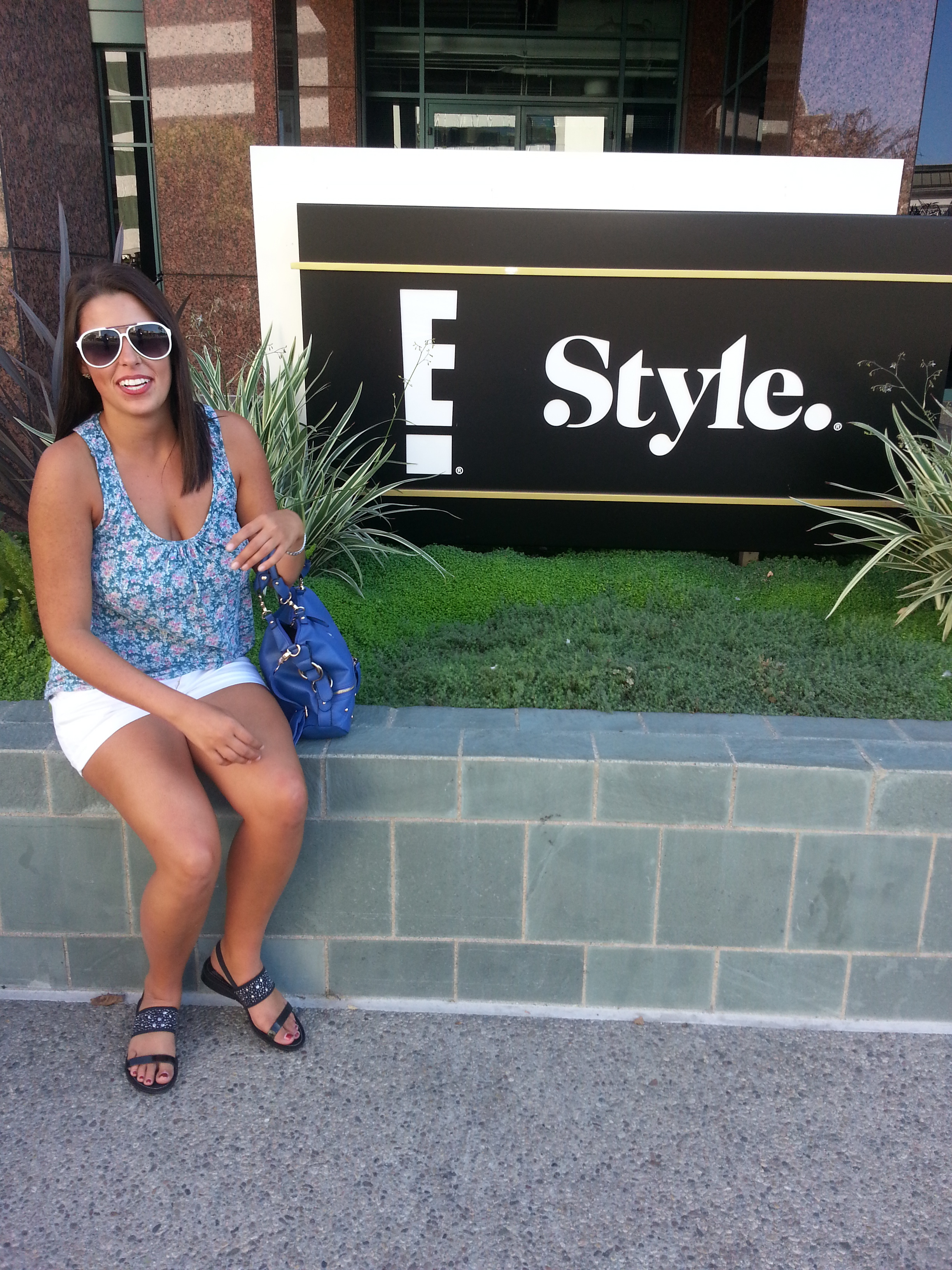 The day of my informational interview. My very first time at E!