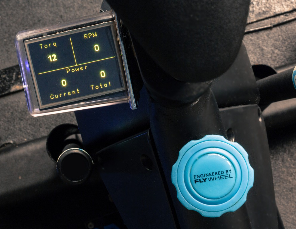 Small screens on each bike track and show your progress in real time throughout the class.