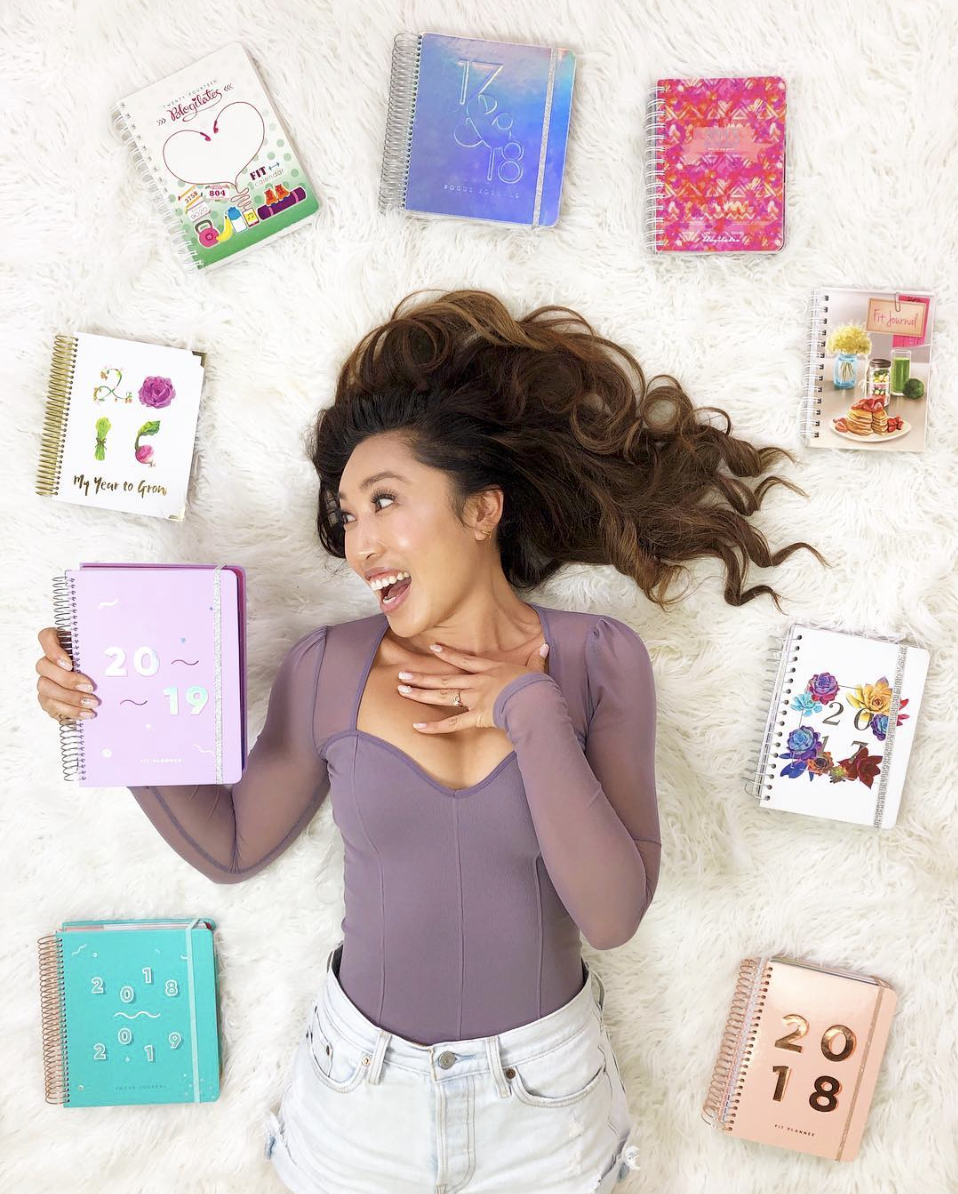 Cassey Ho and her Fit Planners & Focus Journals
