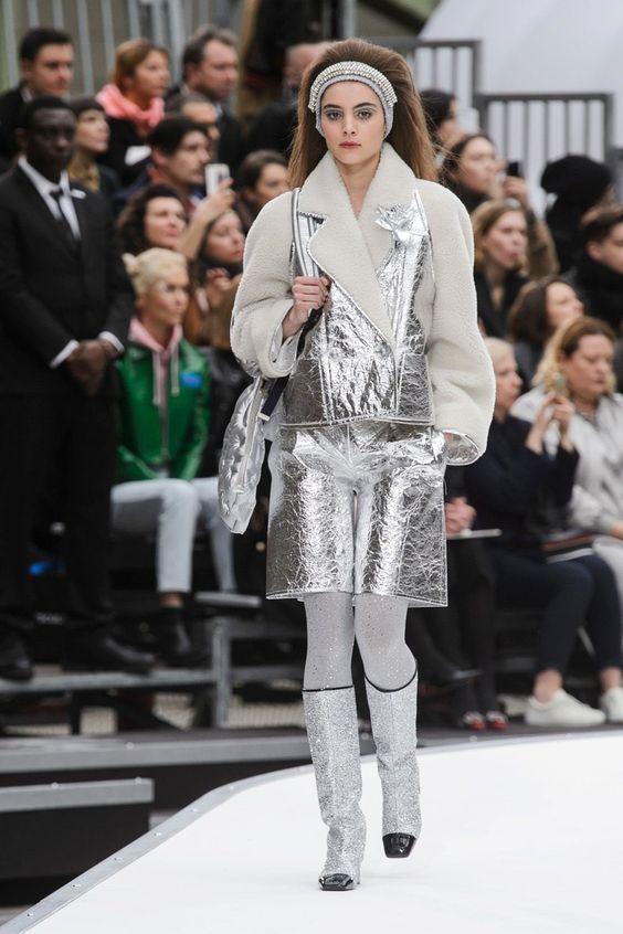Chanel Metallic Silver Runway Trend 2017