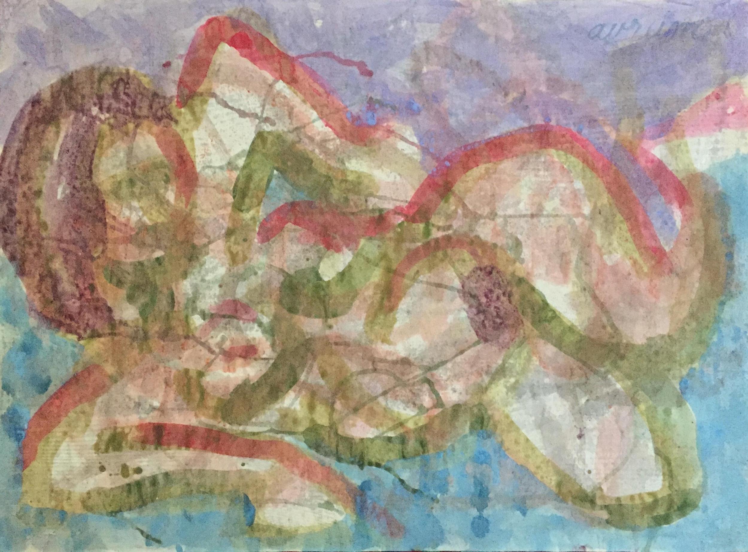 beatnik figure painting - Chairish // $275