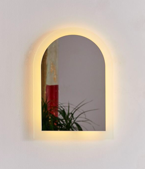illuminated arc wall mirror - Urban Outfitters // $129