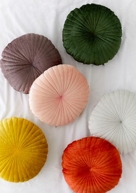 Round Velvet Pillow - Urban Outfitters // $39