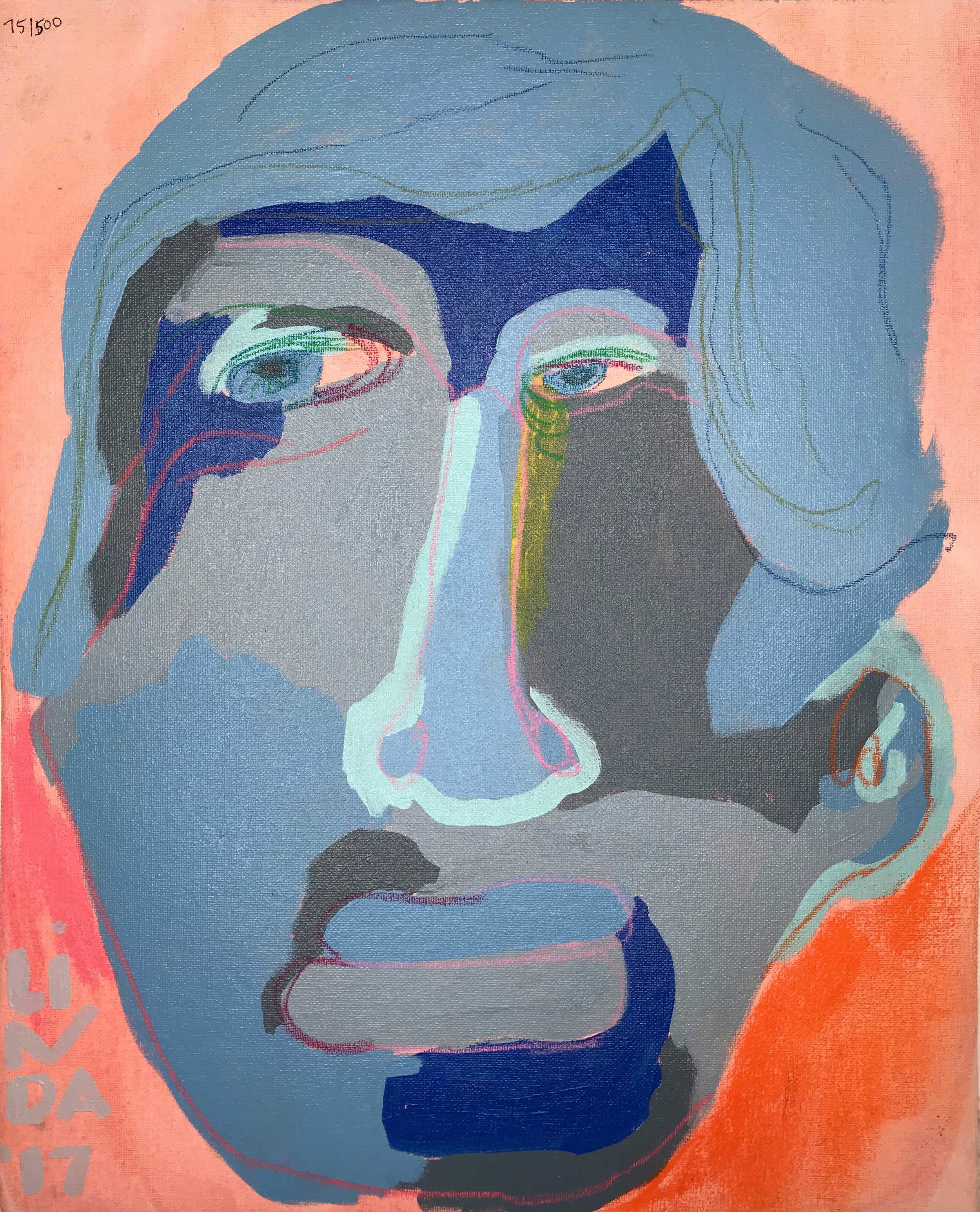 'is he ready' portrait painting - Chairish // $385