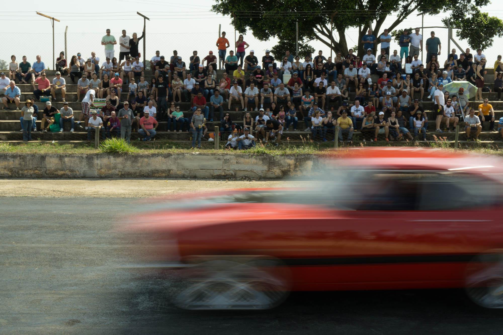 Car Speeding Down Track