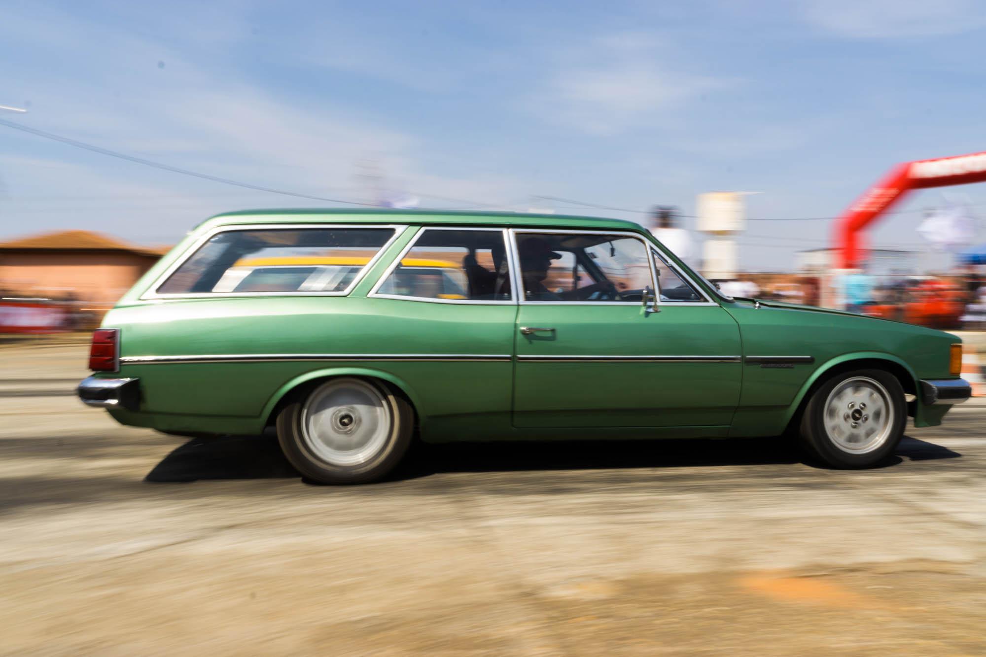 Green Drag Car Launching