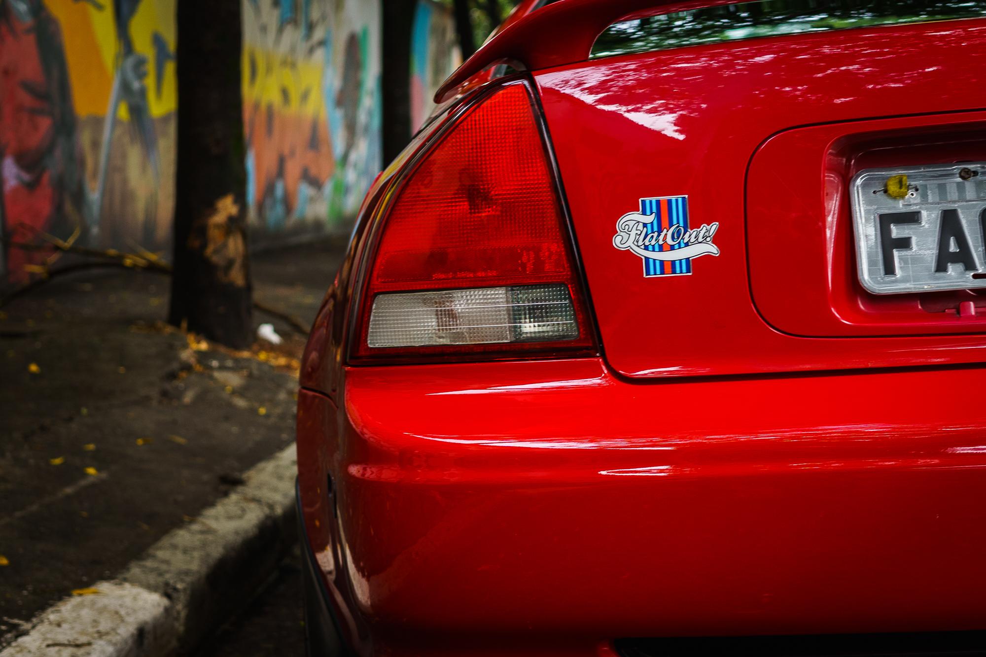 Flatout bumper sticker