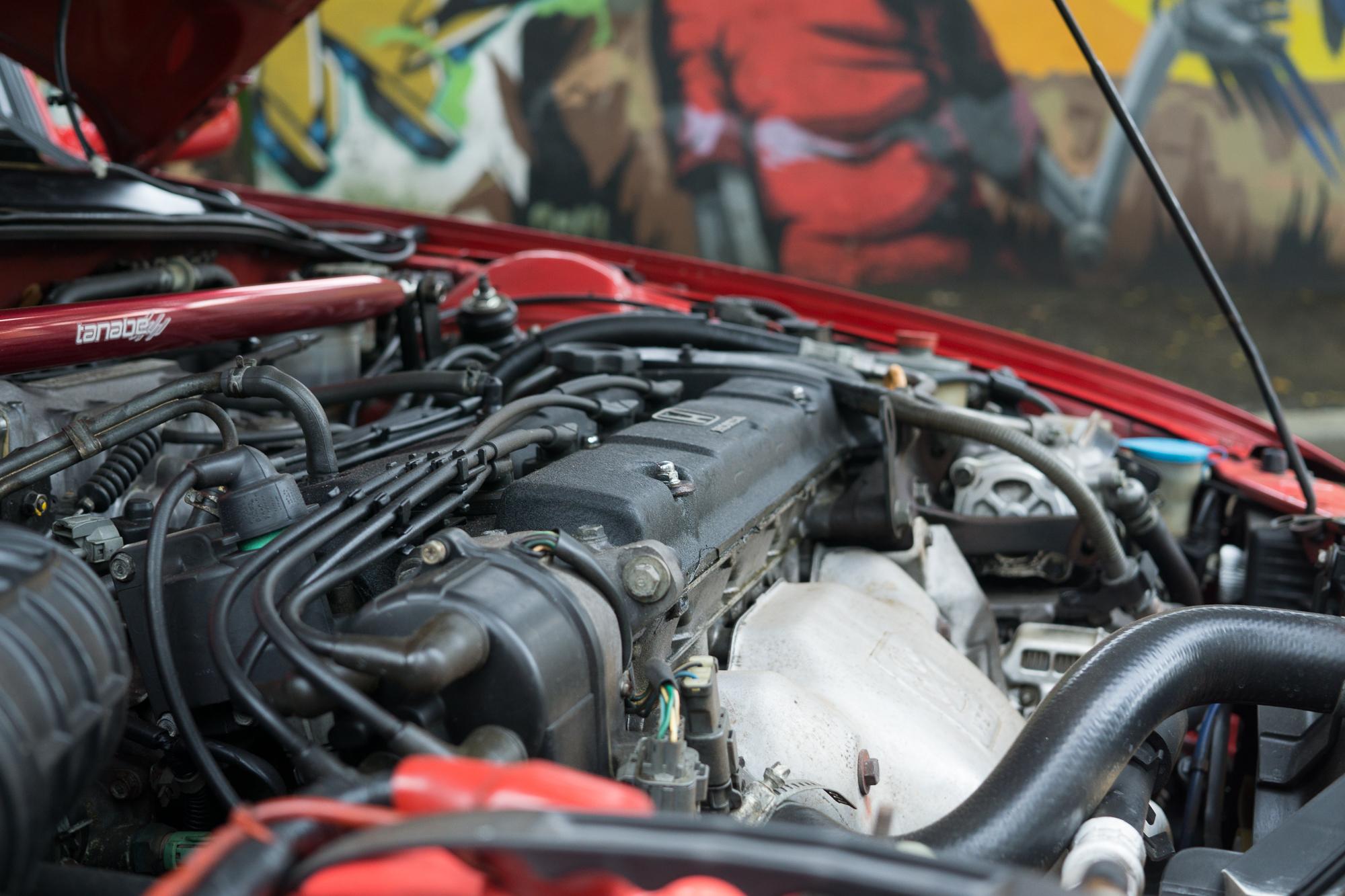 Engine of a Honda Prelude