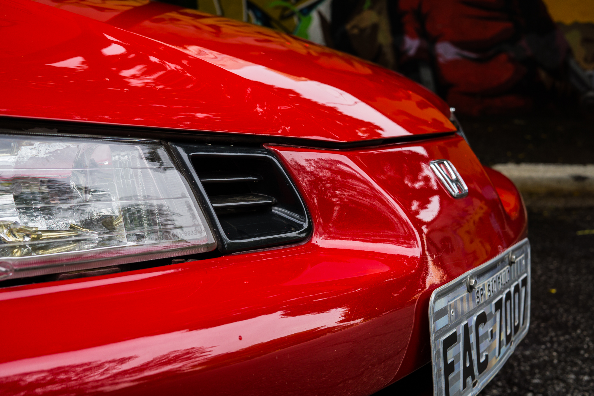 Left Headlamp and intake Honda prelude