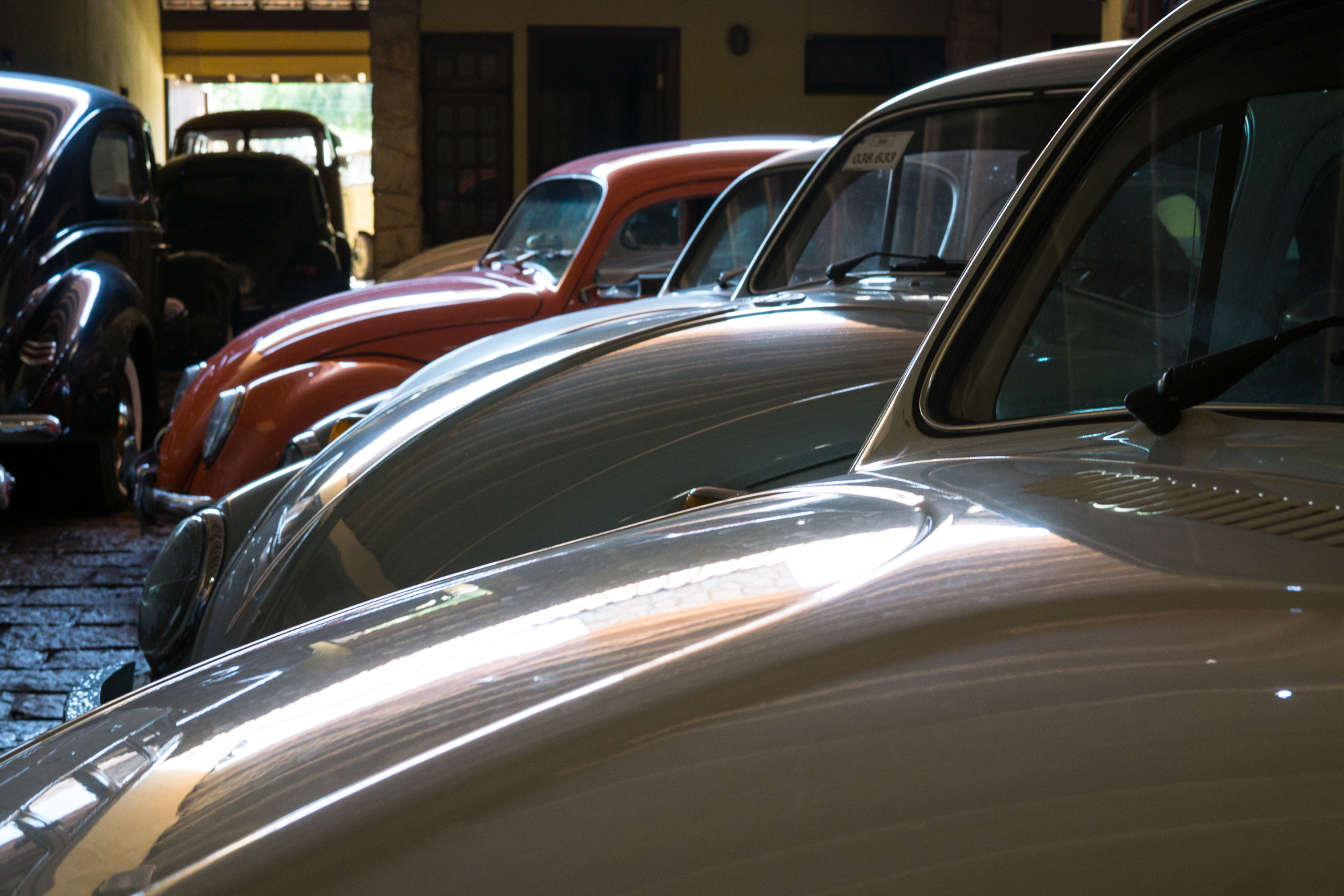 VW Beetles in a Shed