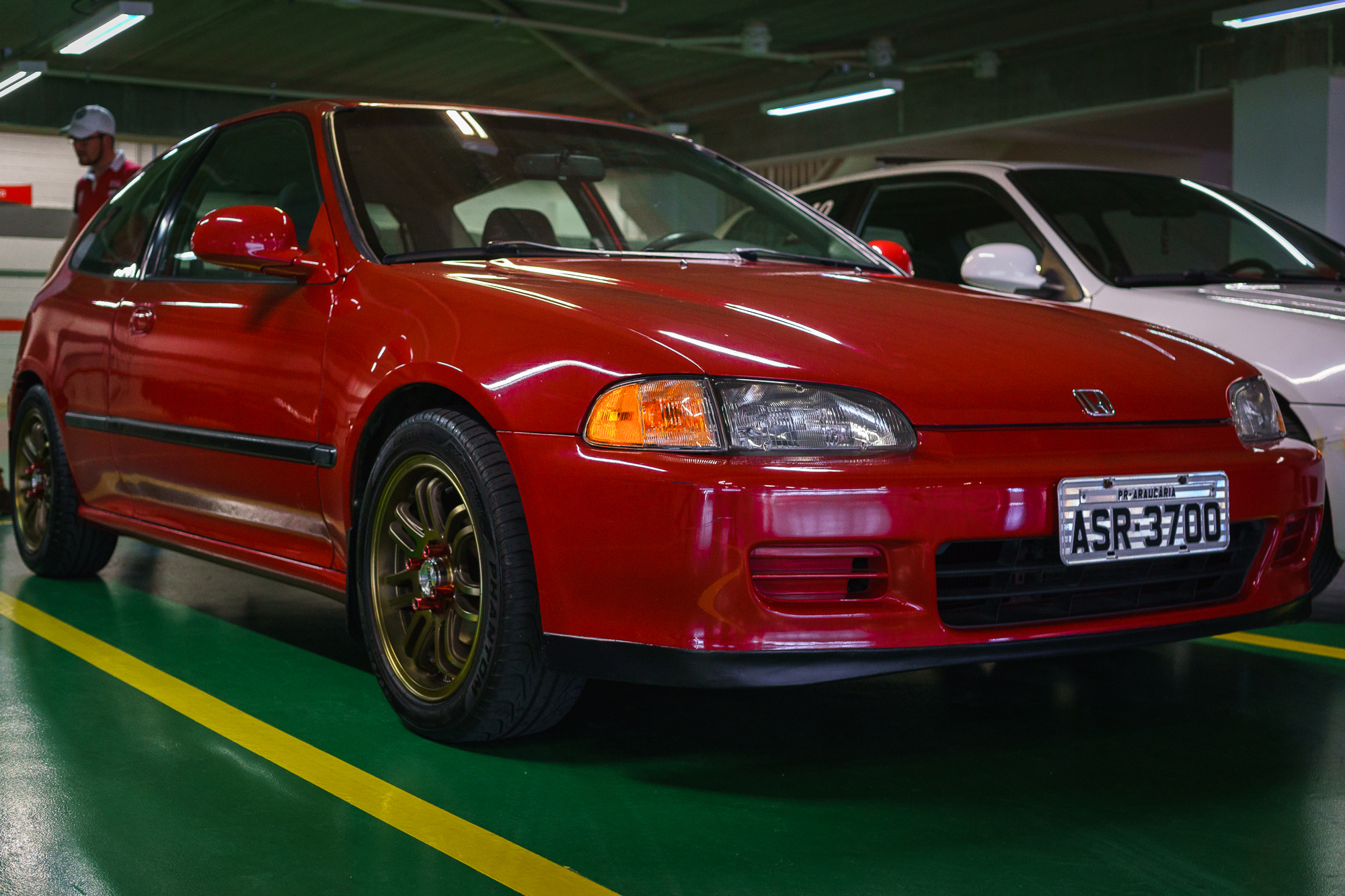 Red Honda Civic JDM Car