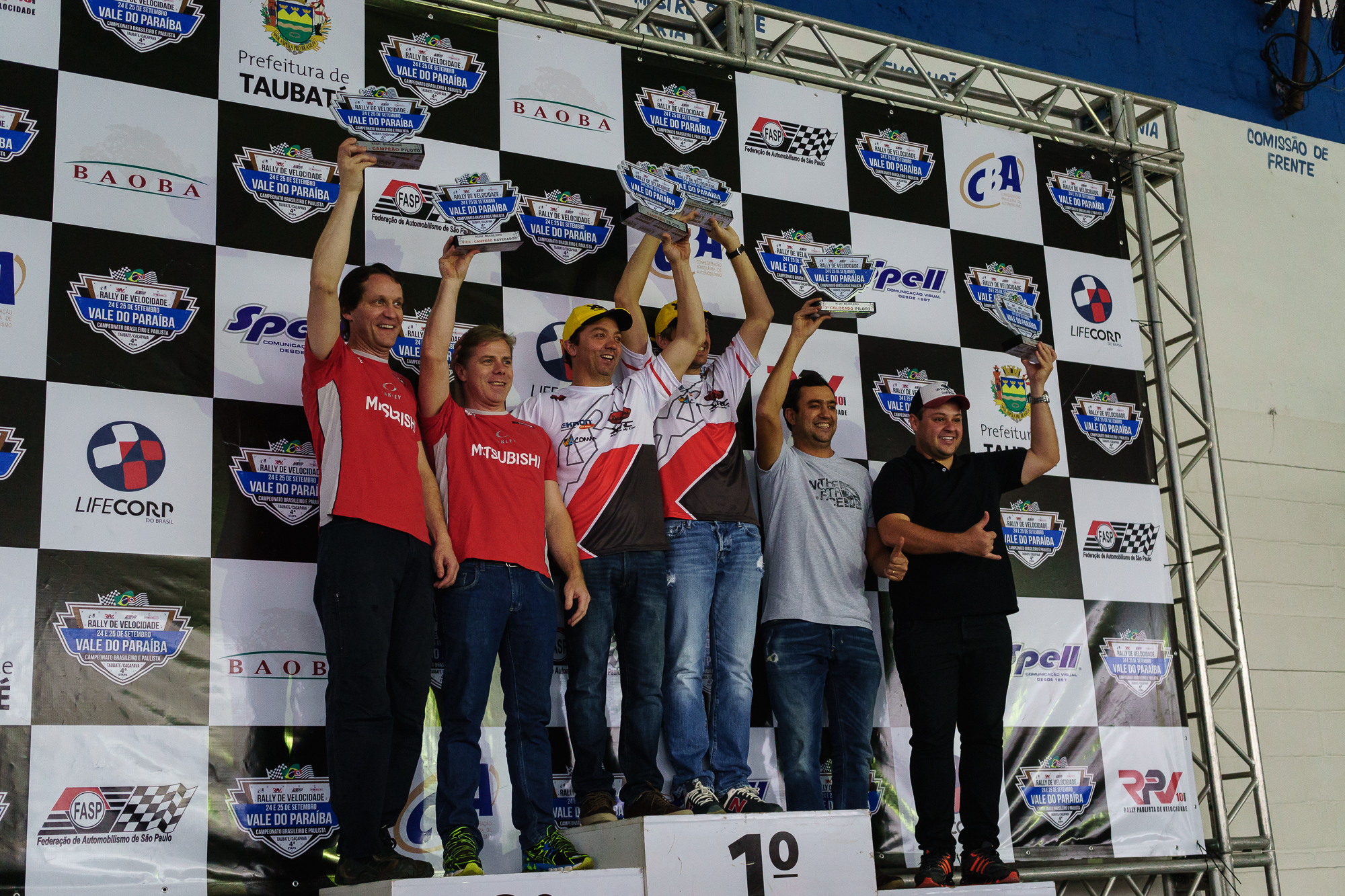 Podium for Mauricio's Class with Mauricio in first