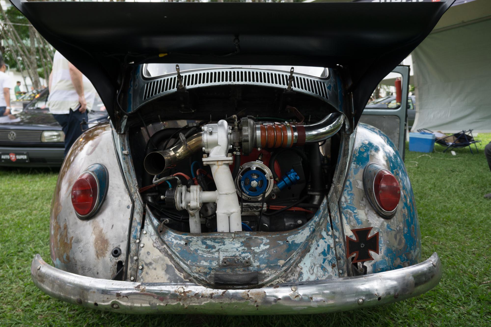 Rat Rod Fusca Engine Bay