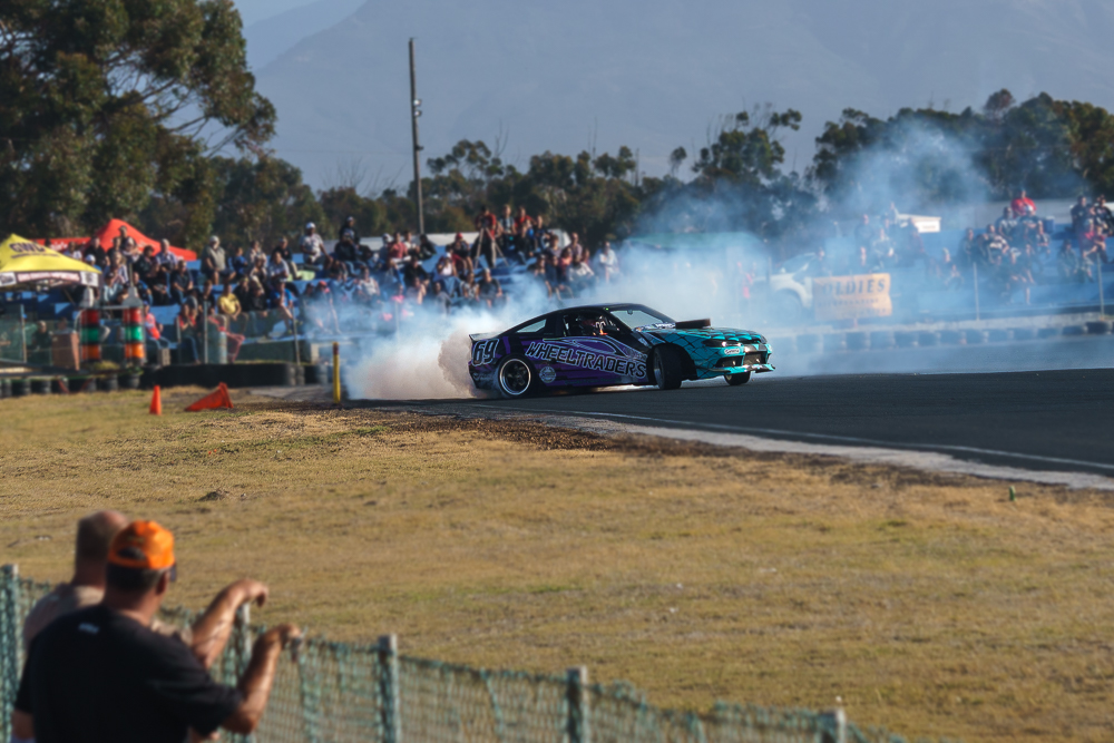 Drift car with Crowd Behind