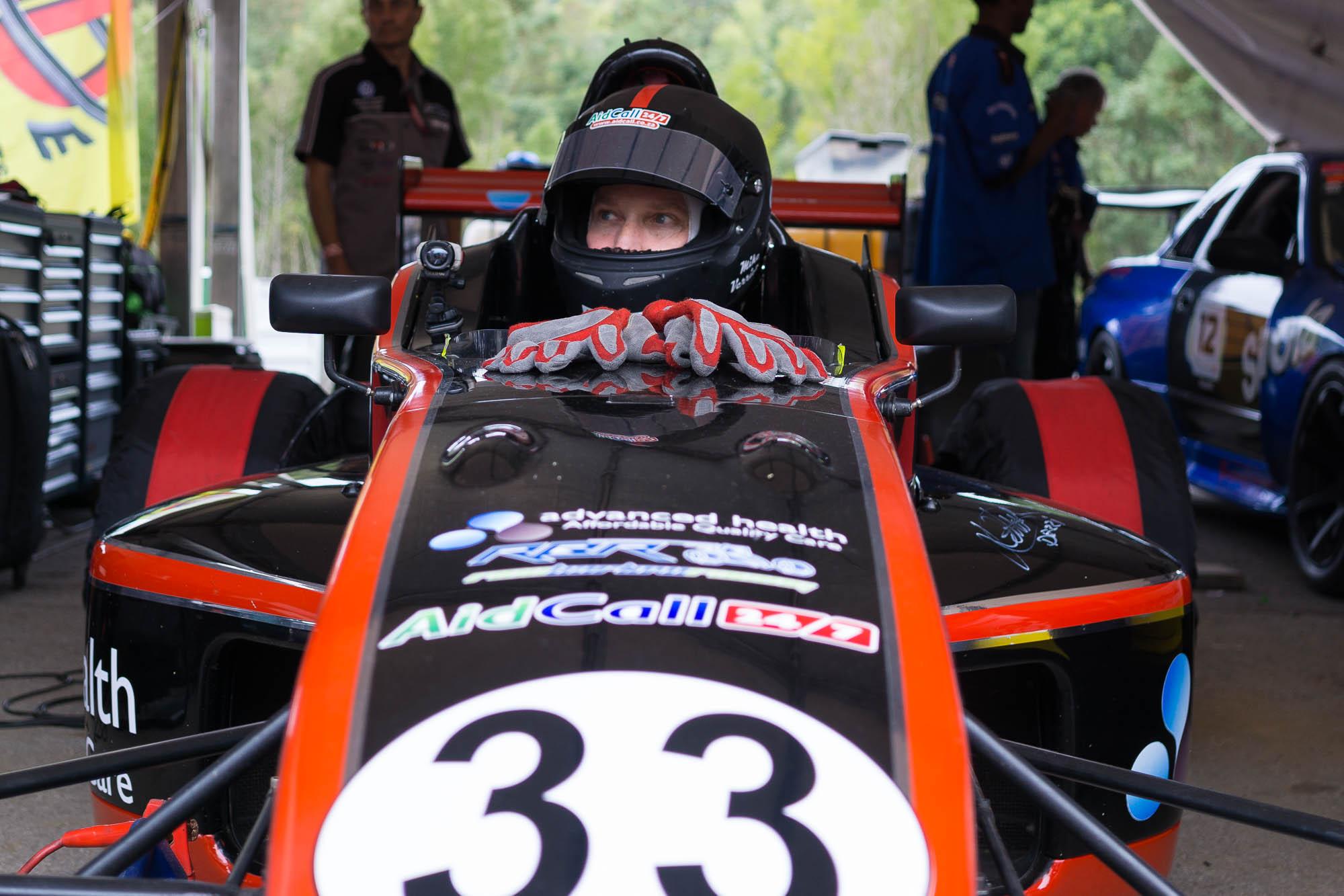 Formula Car With Driver sitting inside