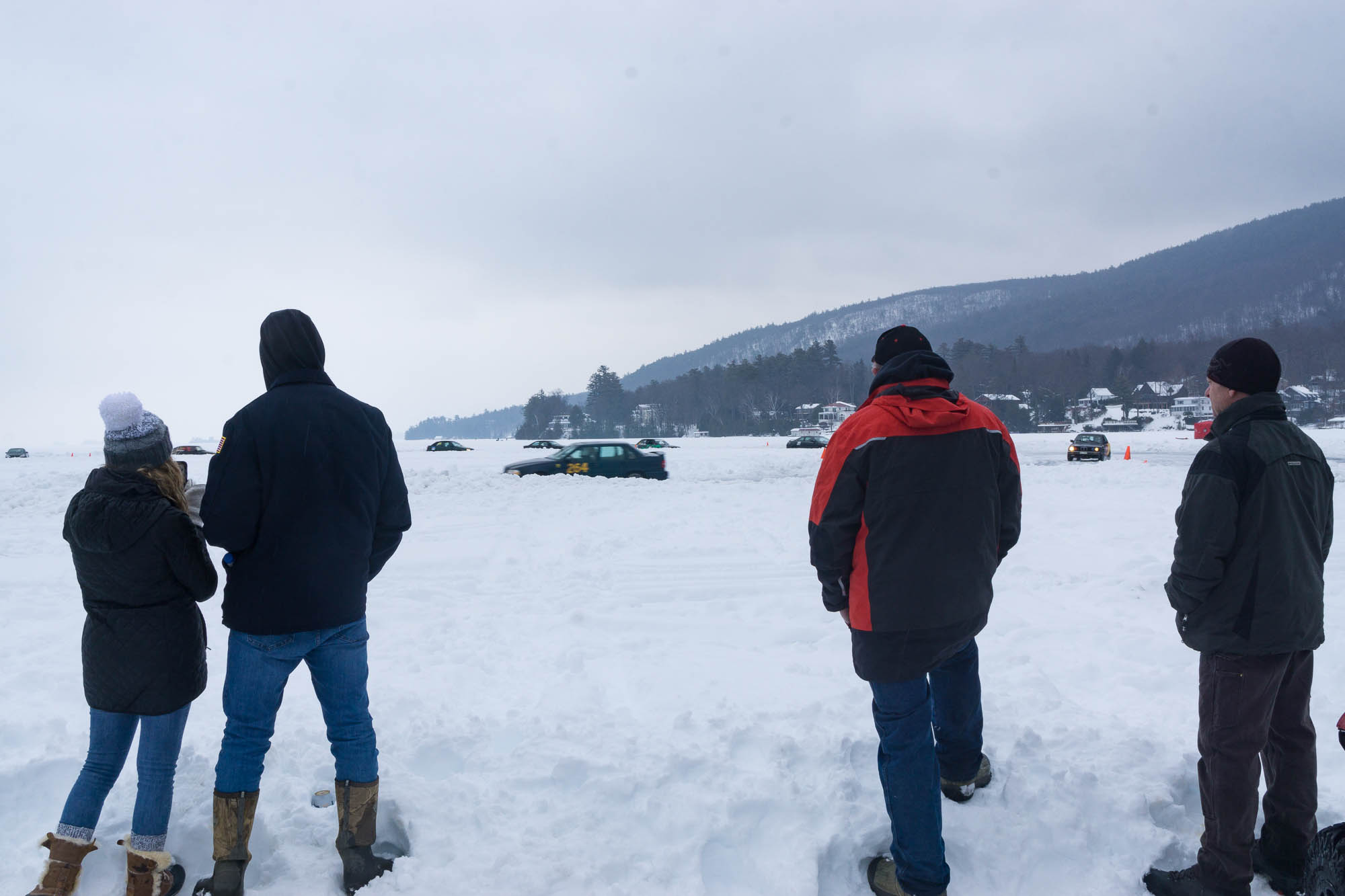 Lake George Ice Races spectators