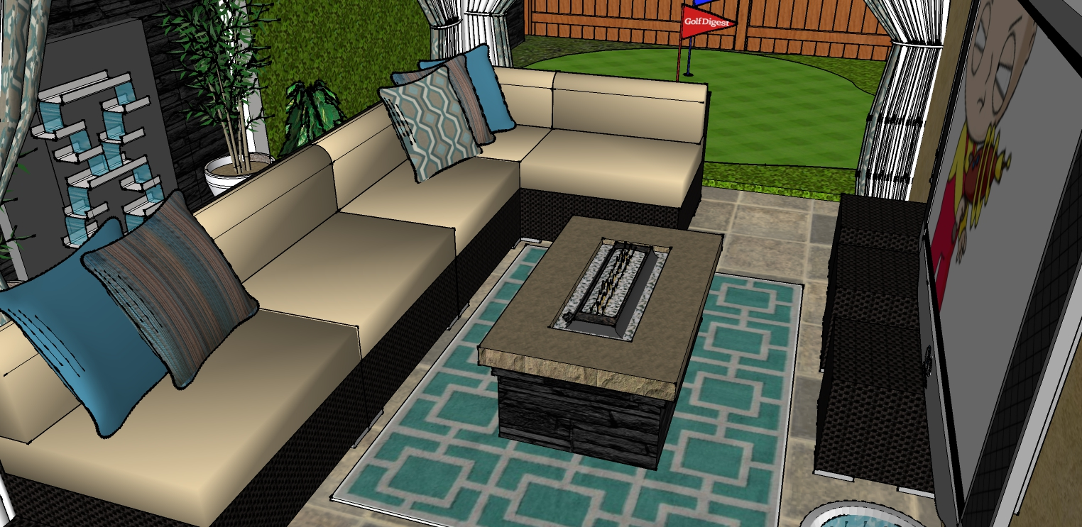 residential petite yard
