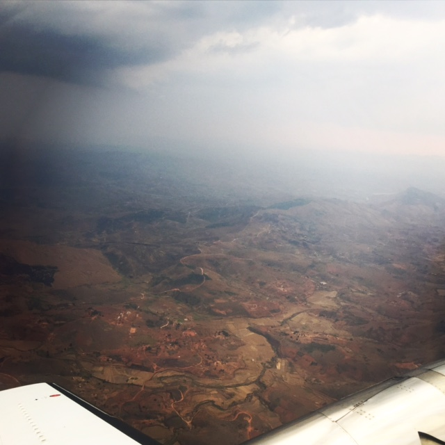 Caught in a rainstorm on the way back into Antananarivo made for stunning skies.