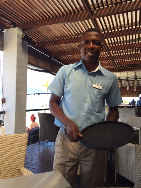 Amilcar the dreamer. We started Galeria dos Sonhos together. Now he is a waiter, making money to further his education.