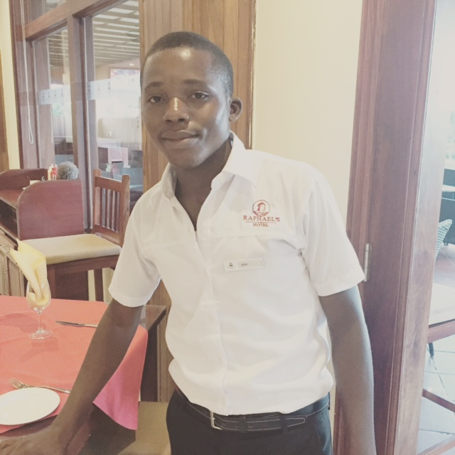 Rofi is now a waiter too. I have heard rumour he is the best in the city. He had to quit university because he has been having severe pain that appears to be neurological. He has good days and bad.