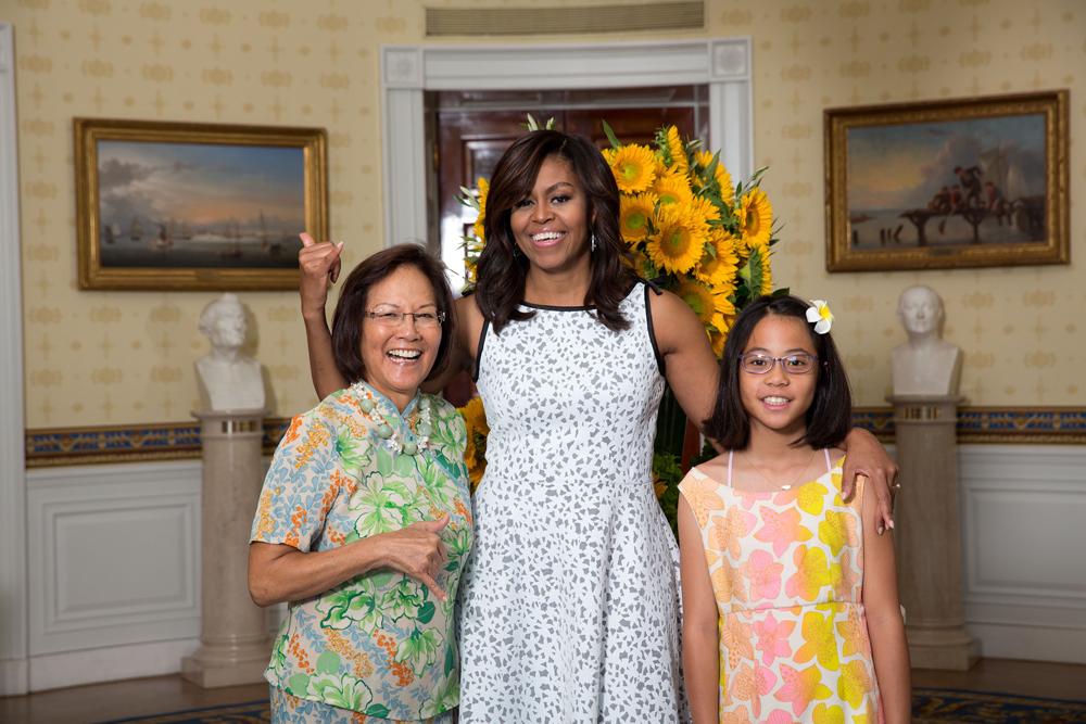 Jana Lam Print at the White House