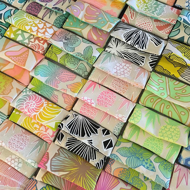 Jana Lam's Handmade in Hawaii Mini Mini Clutches waiting for buttons.jpg