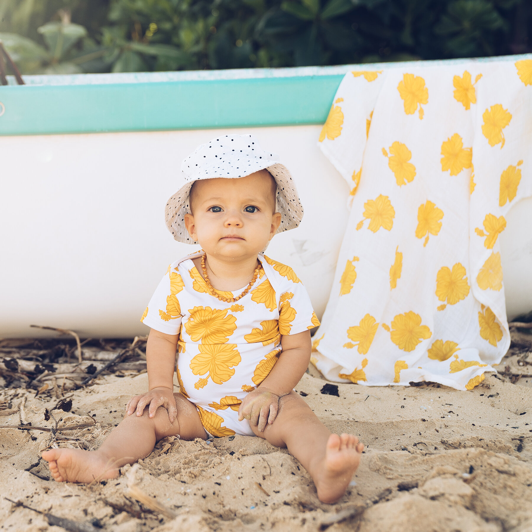Hibiscus Swaddle Blanket • Coco Moon Hawaii x Jana Lam Collab ...