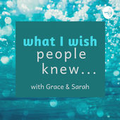 Interview with Grace Gufler on the 'what I wish people knew' podcast, a podcast discussing a variety of psychological and counselling topics.  Click to listen.