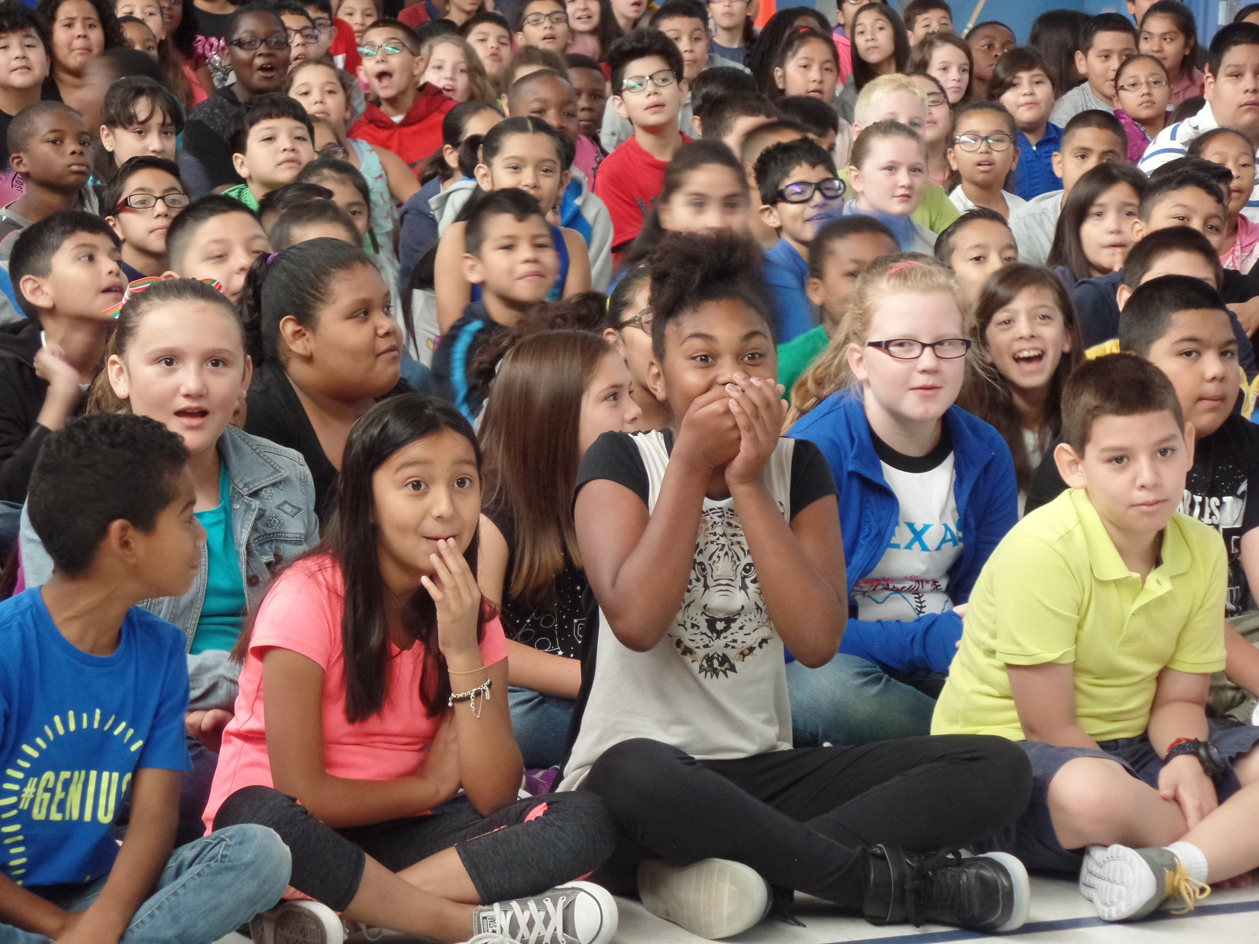3rd - 5th graders enjoying a performance in Plano, Texas