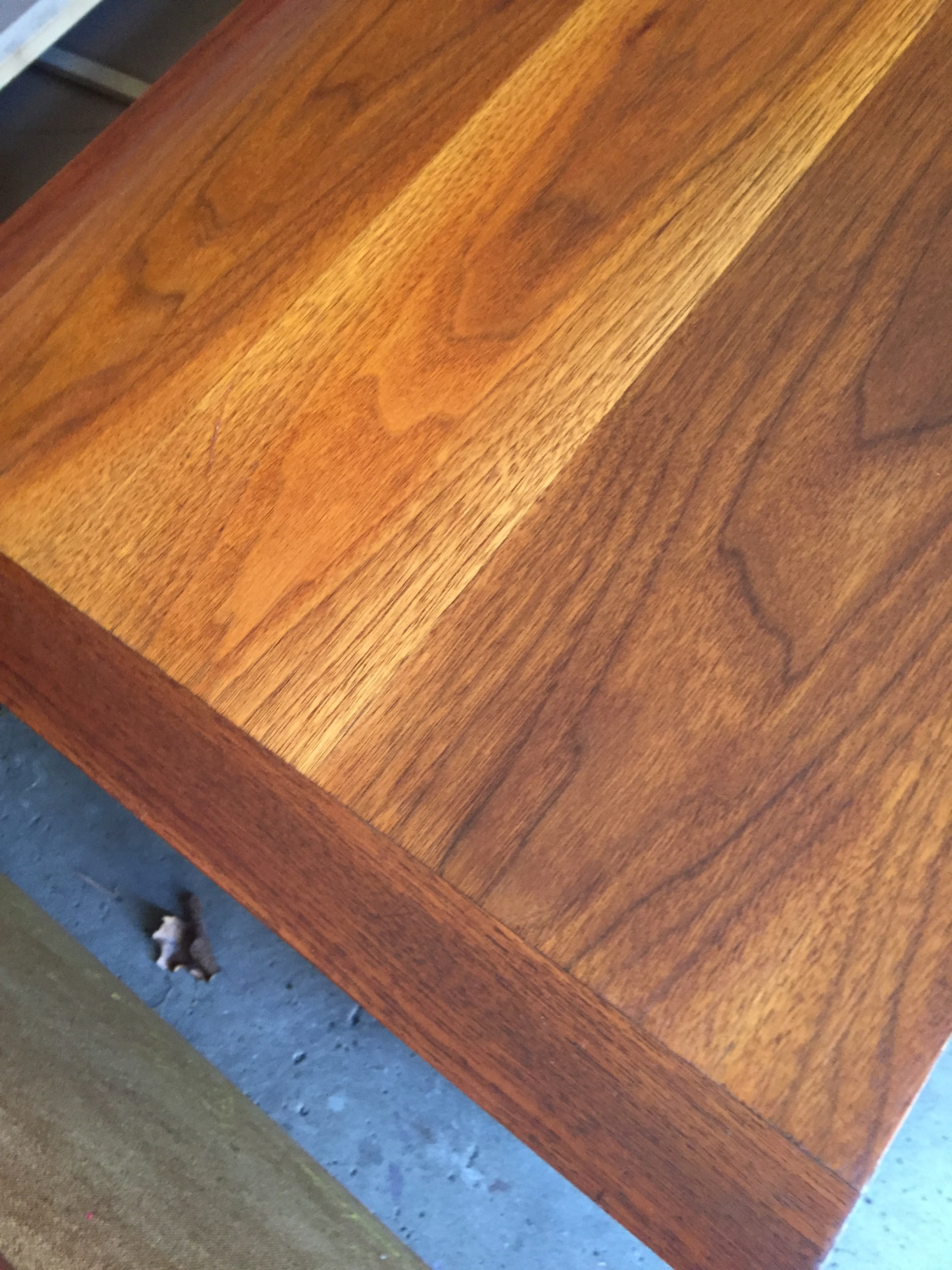 The beautiful wood graining that had been hiding under years of abuse.....