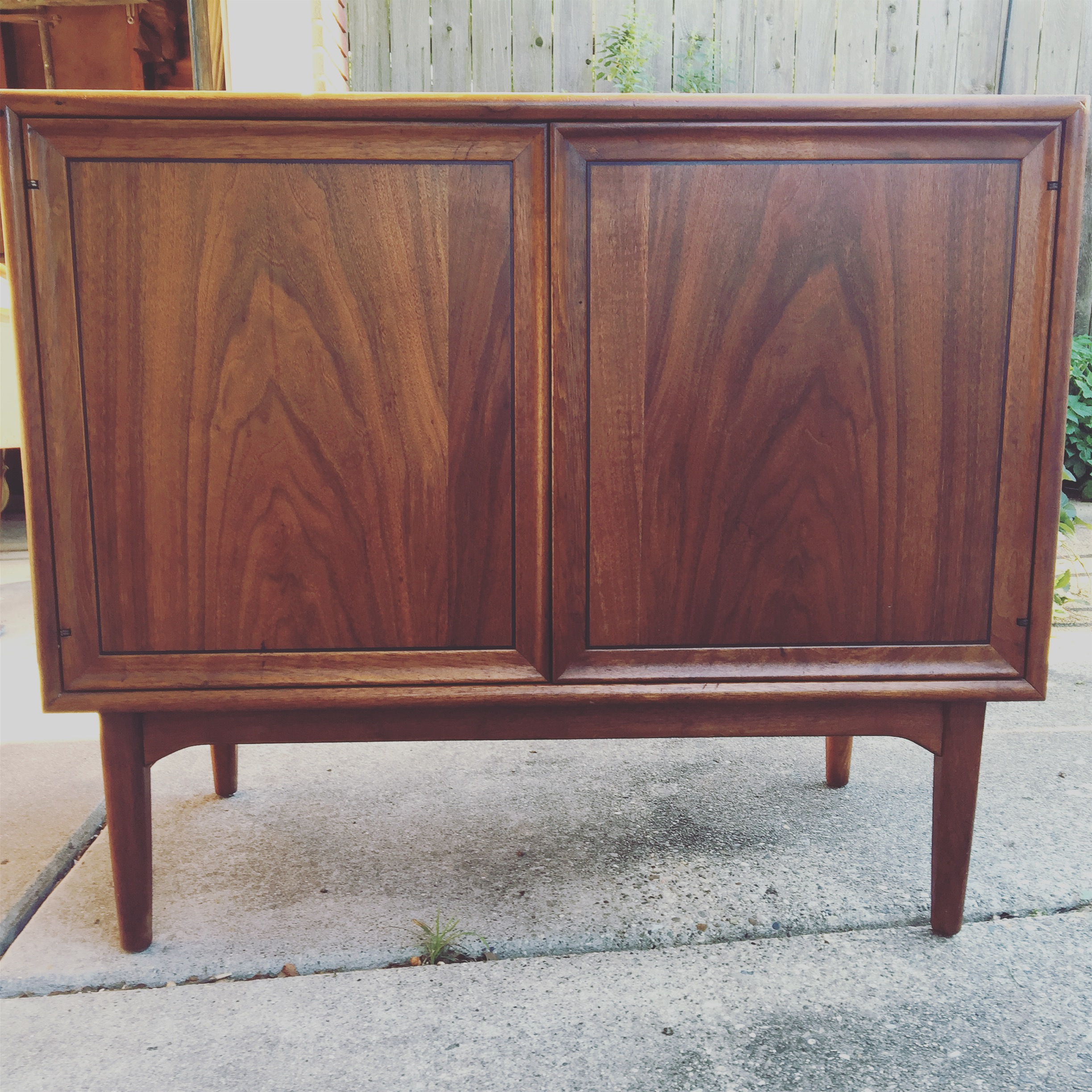 So excited to refinish this top! This is a beautiful Drexel Declaration cabinet, or, mini credenza.