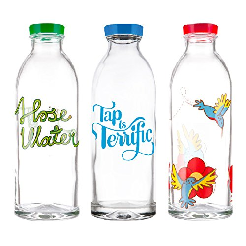 LOVE these bottles! How cute are they?! I want them. Glass bottles by  Faucet Face