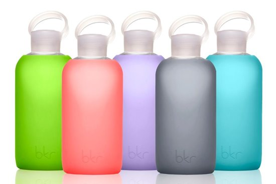Oooh, and if you are into sleek and modern vibes, this is perfecto for you -  bkr glass bottles
