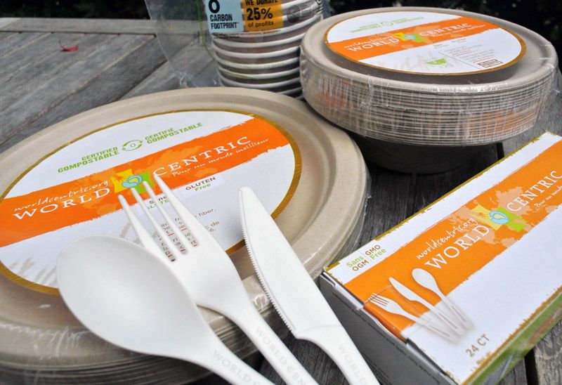 World Centric plates and silverware  see site for various prices