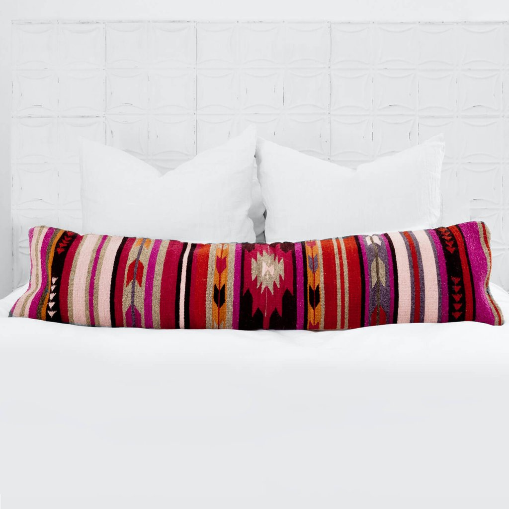 Ceniza Lumbar Pillow  - $195 - Takes 3 days to make - If I got this as a gift, the giver would be my best friend for life! ( also comes in black, white, and gray  for those of you that love neutral colors)
