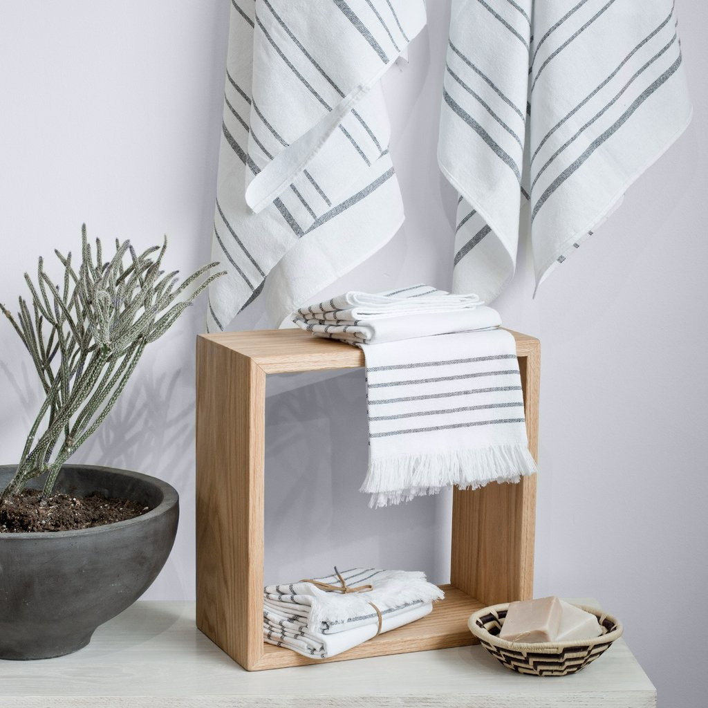 Puebla Hand Towels  - Classic - $18, or $36 for set of 2 - each is handmade of cotton, and takes over a day to complete.