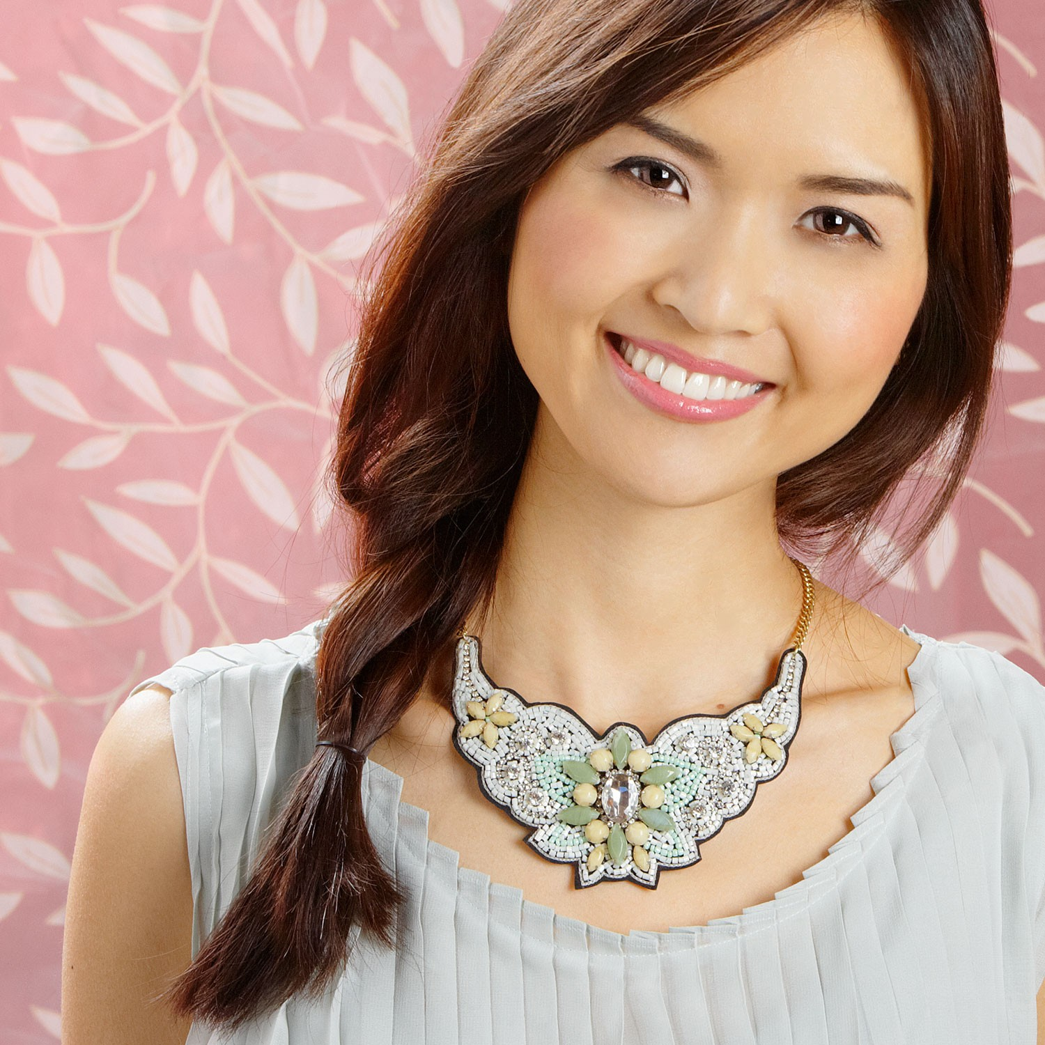 Sugar Crystal Necklace  - $39 - Made in India