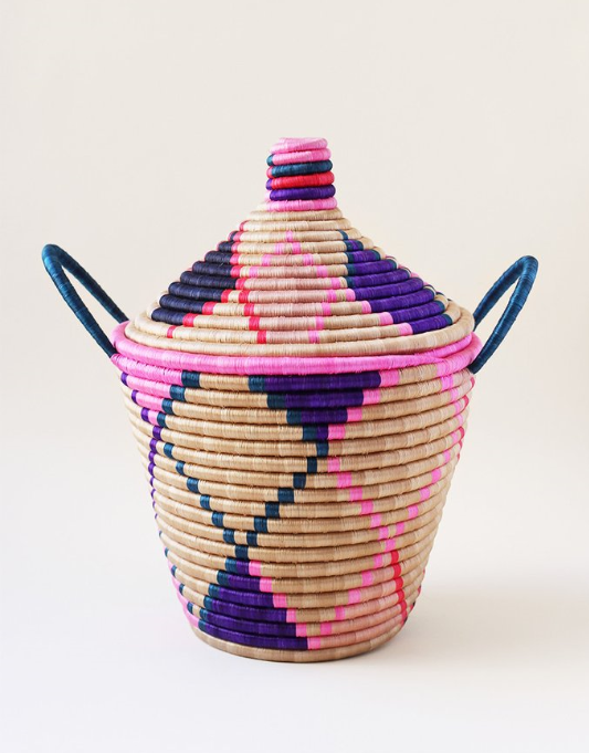 "Marrakech Handle Basket  - $240 - handwoven sisal and sweetgrass - 14"" x 18""tall - More drooling...."