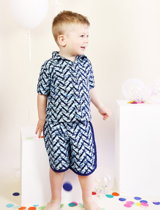 Boys Button-up Blue  - $25 on sale - sizes 6 months to 4 years - 100% cotton